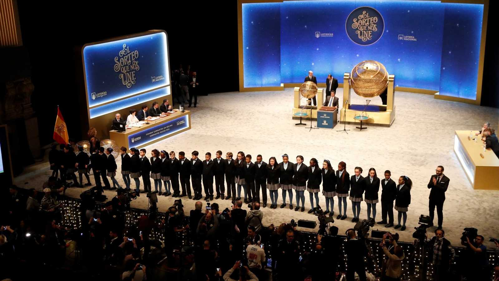El Teatro Real, nueve años siendo escenario del Sorteo de Lotería de Navidad