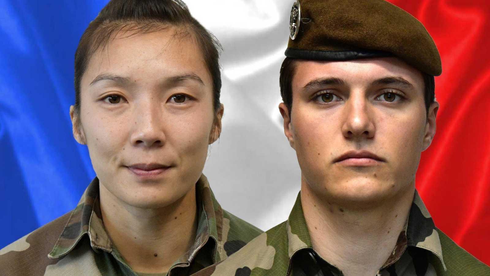 La sargento Yvonne Huynh y el brigadier Loic Risser