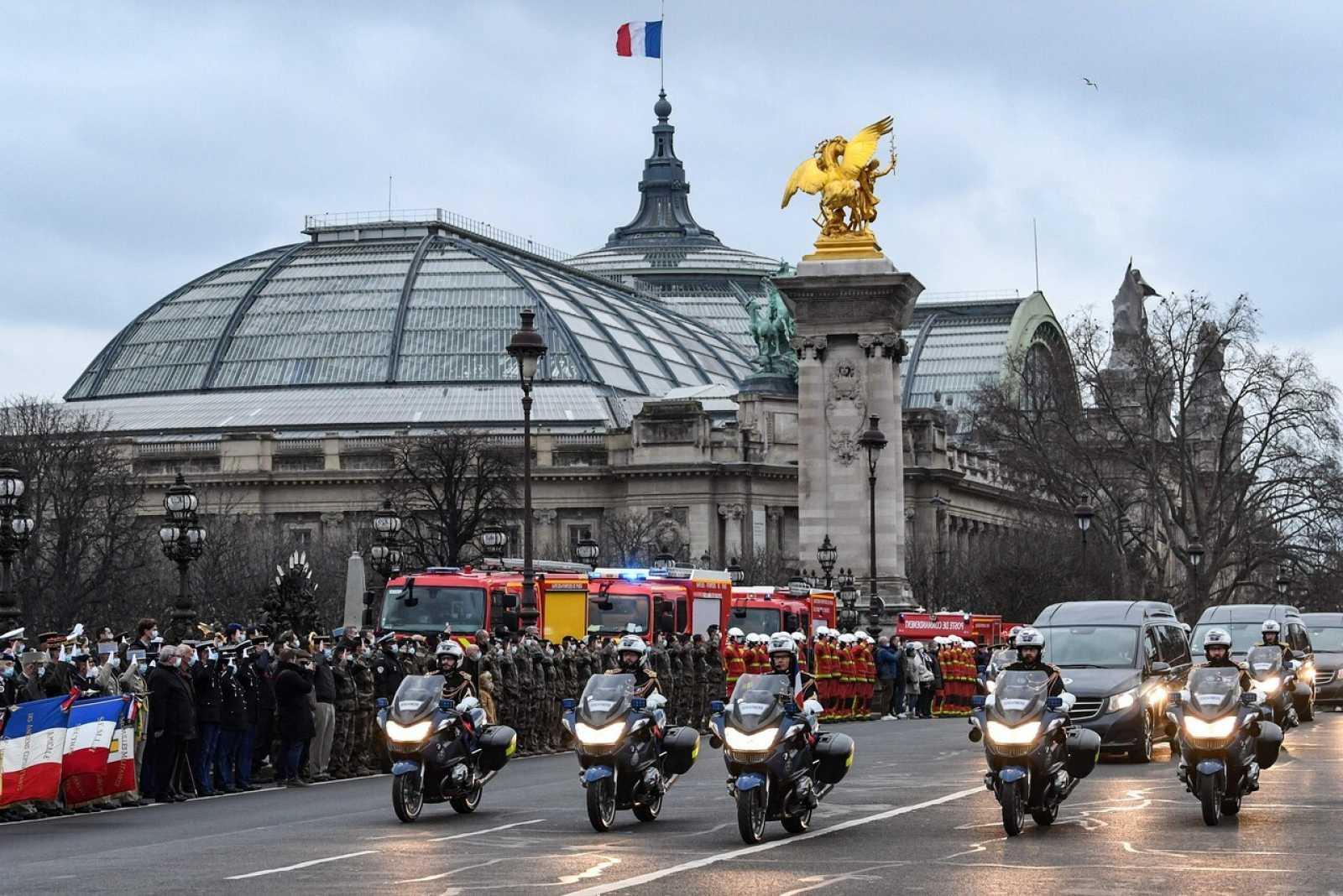 Funeral en París por la muerte de dos soldados franceses en Mali