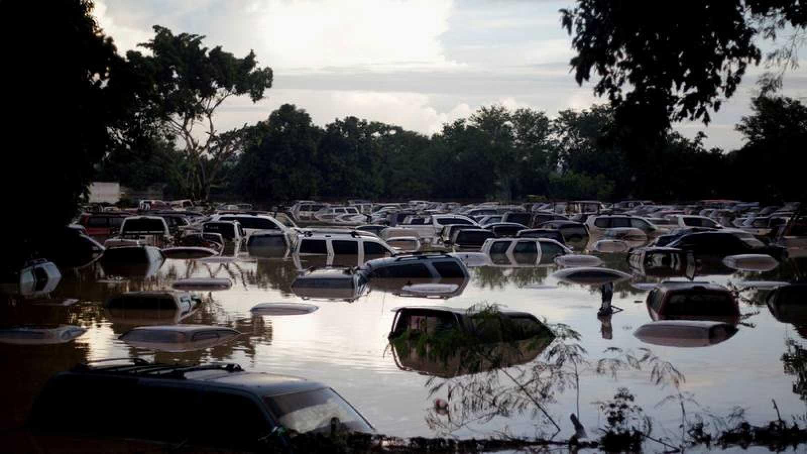 Inundaciones en la ciudad hondureña de La Lima