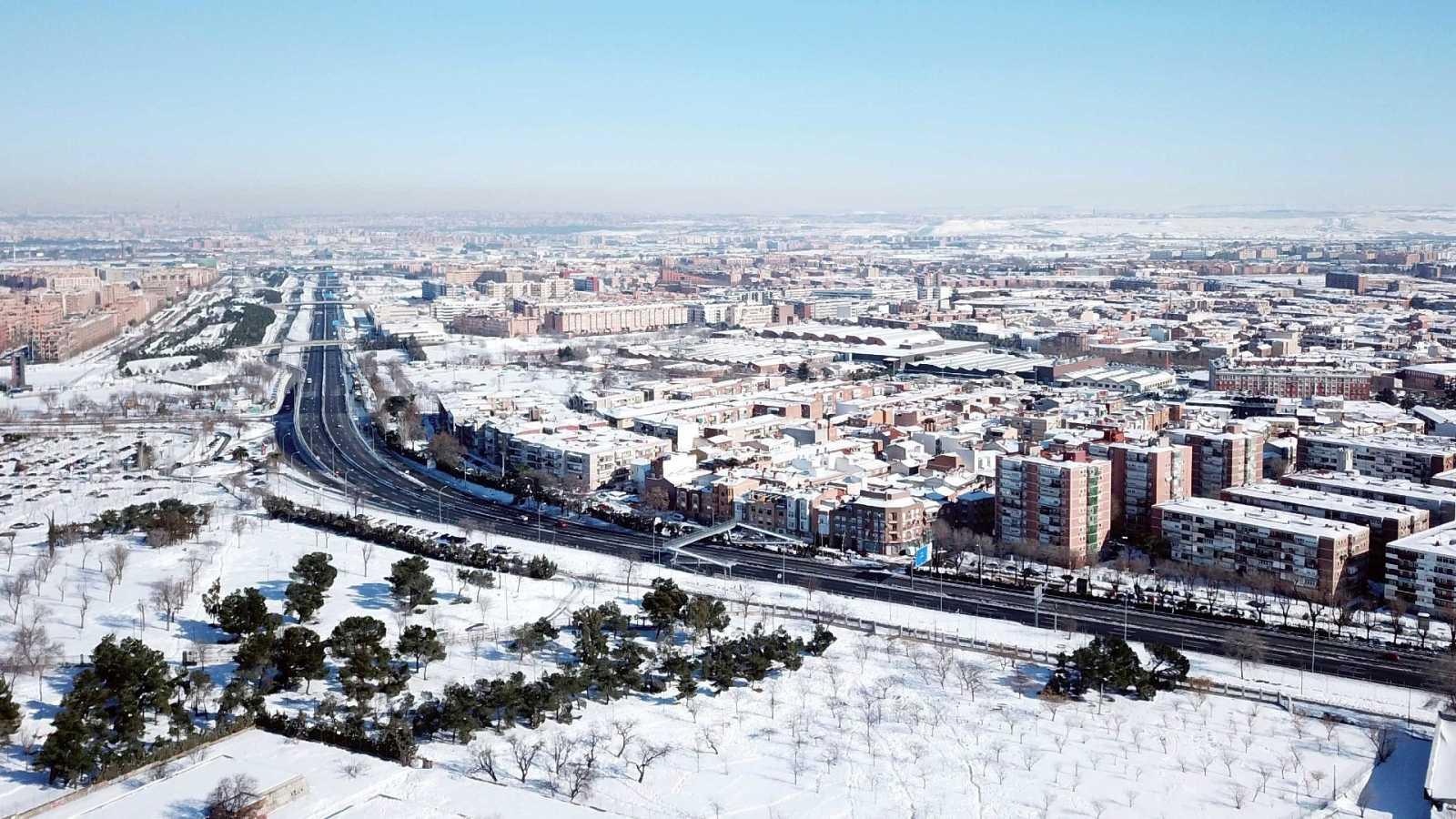 Vista de la carretera de Toledo a su paso por la localidad madrileña de Getafe