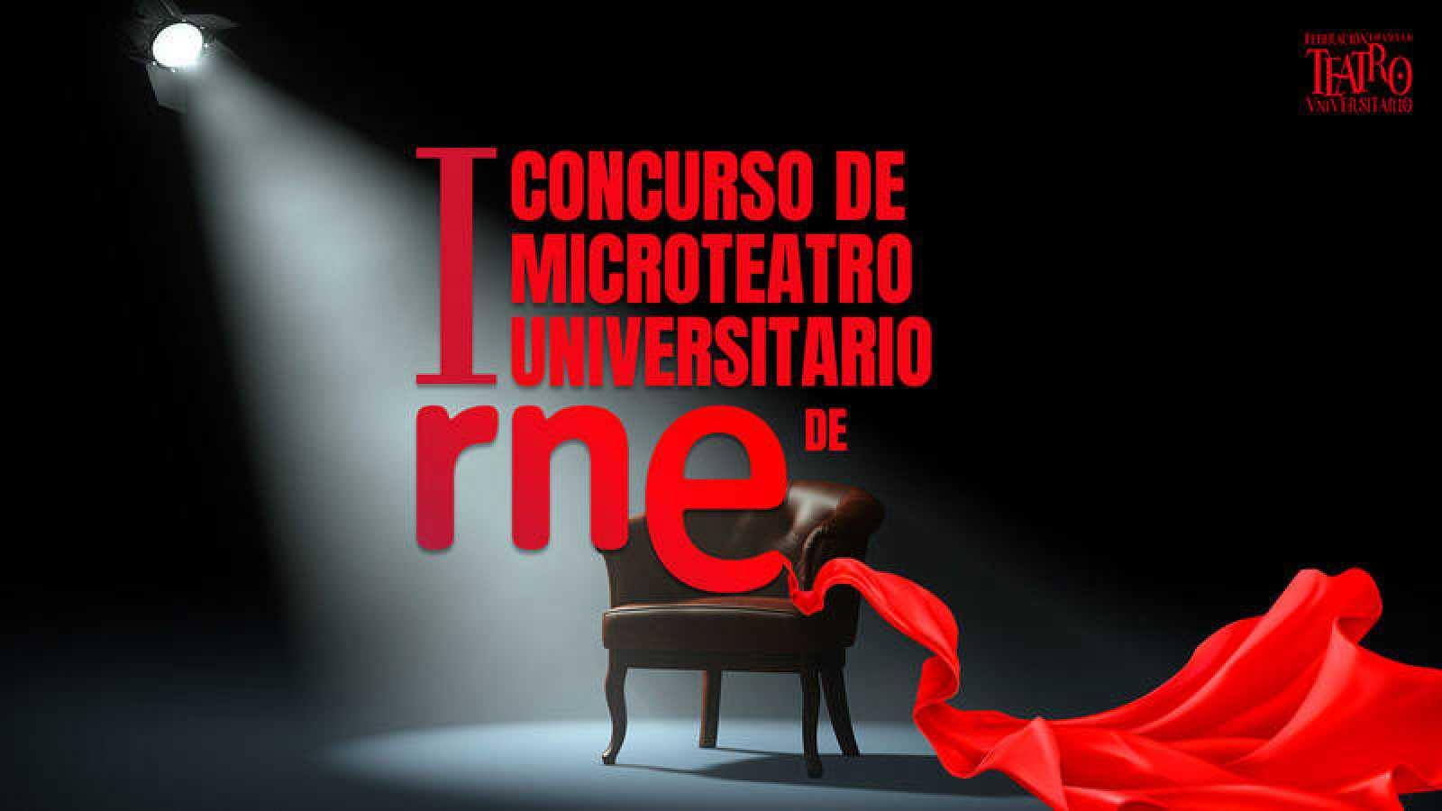 Cartel del I Concurso de Microteatro Universitario de RNE.