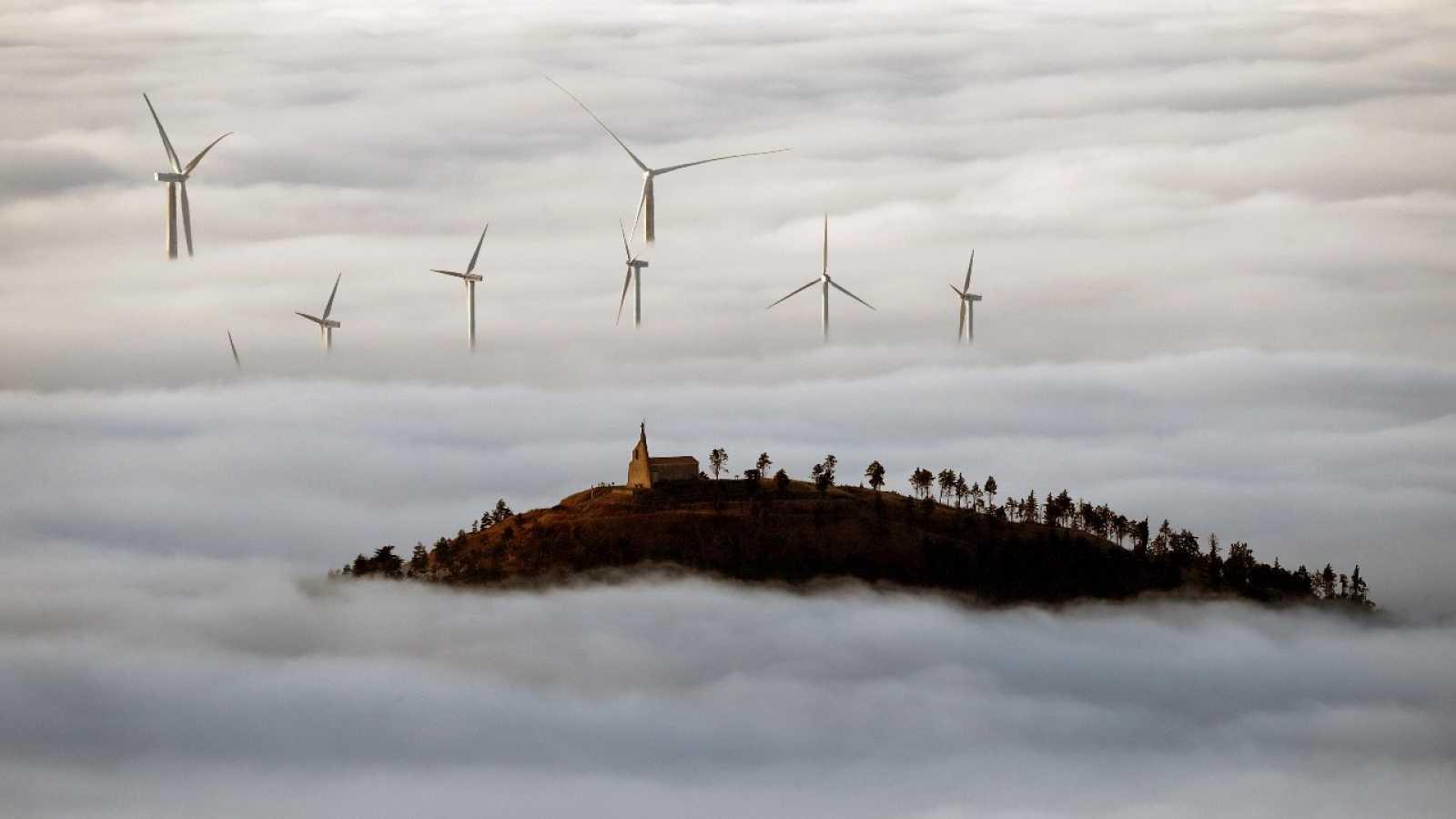 Parque eólico en Navarra