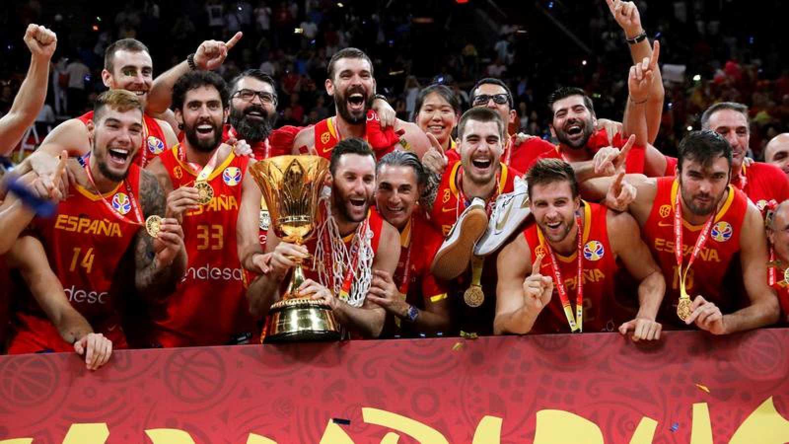 La selección española masculina de baloncesto, vigente campeona del mundo.