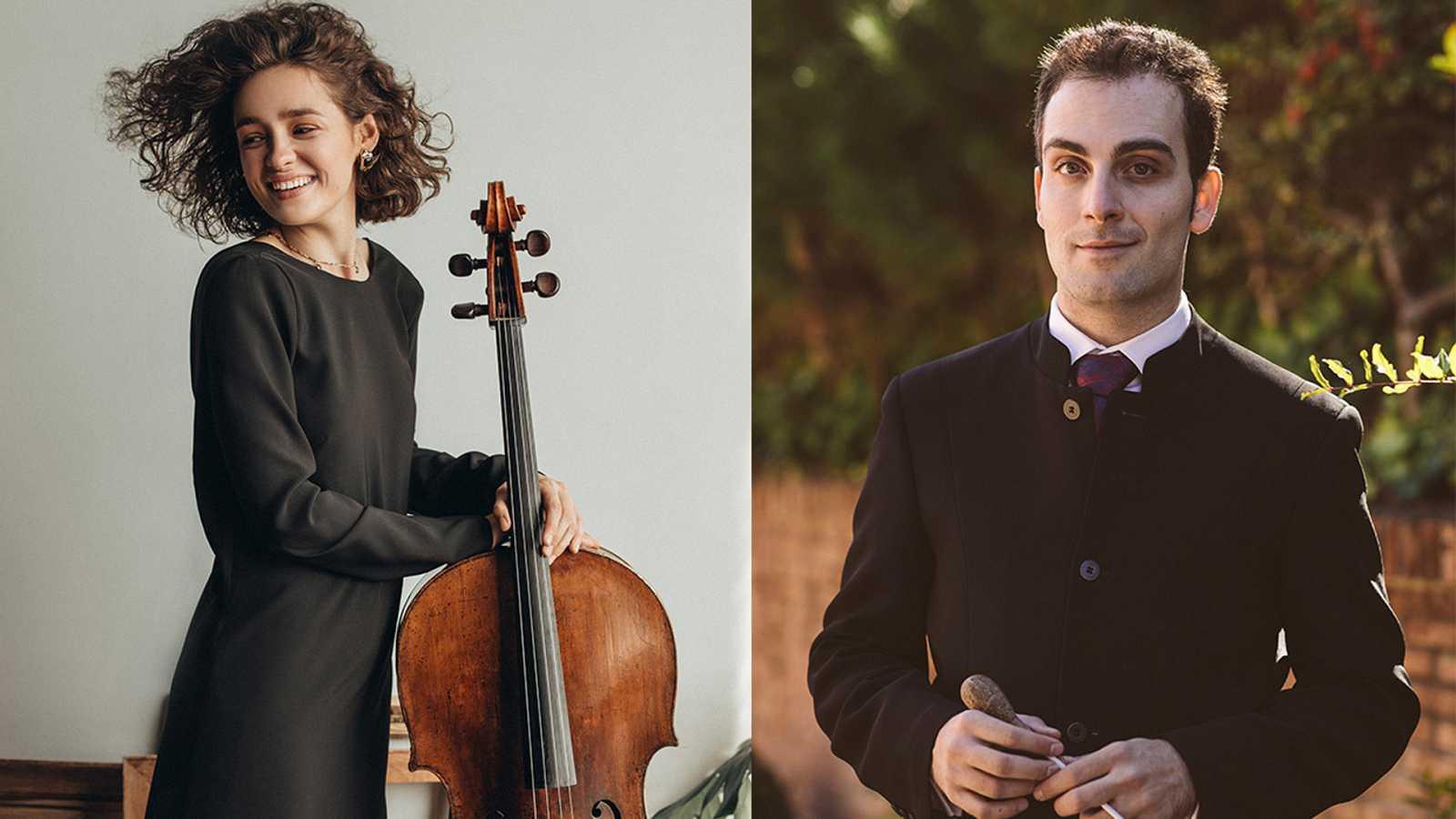 La violoncelista  Anastasia Kobekina y el maestro Edmon Levon