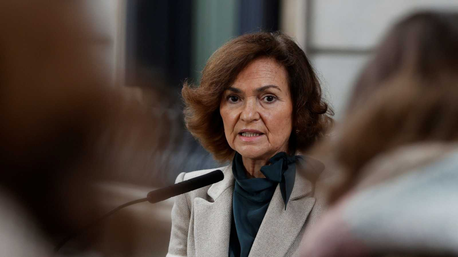 La vicepresidenta segunda del Gobierno, Carmen Calvo.