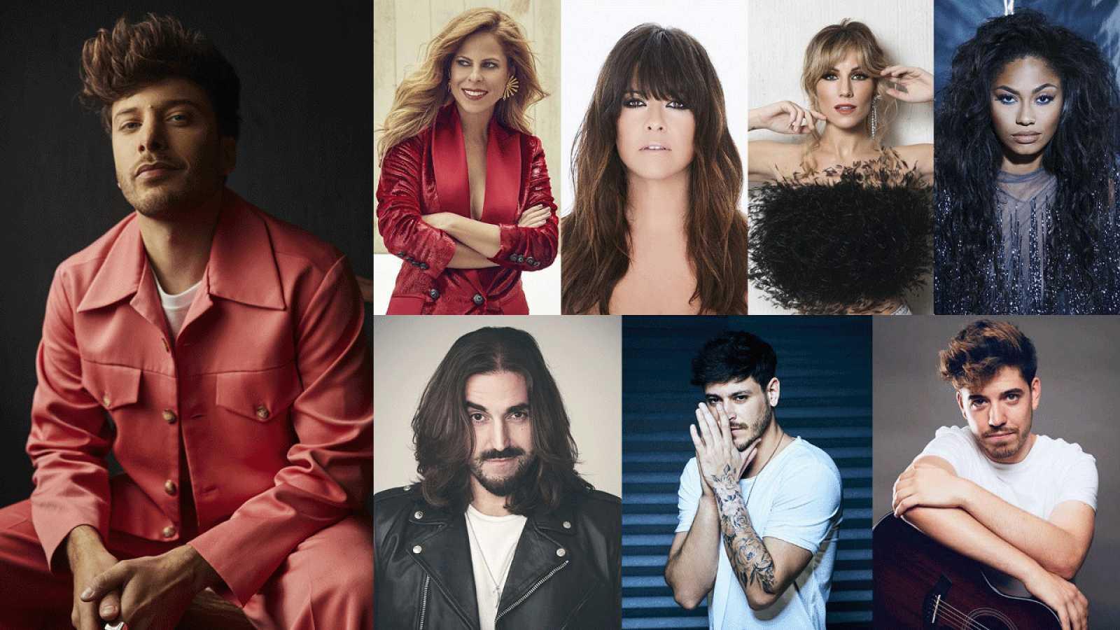Siete grandes artistas y amigos de Blas Cantó actuarán con él en 'Destino Eurovisión'.