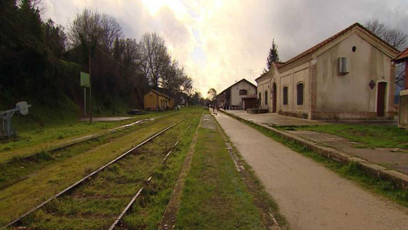 Estación de tren de Hervás, en Cáceres, convertida ahora en Centro de Interpretación del Ferrocarril