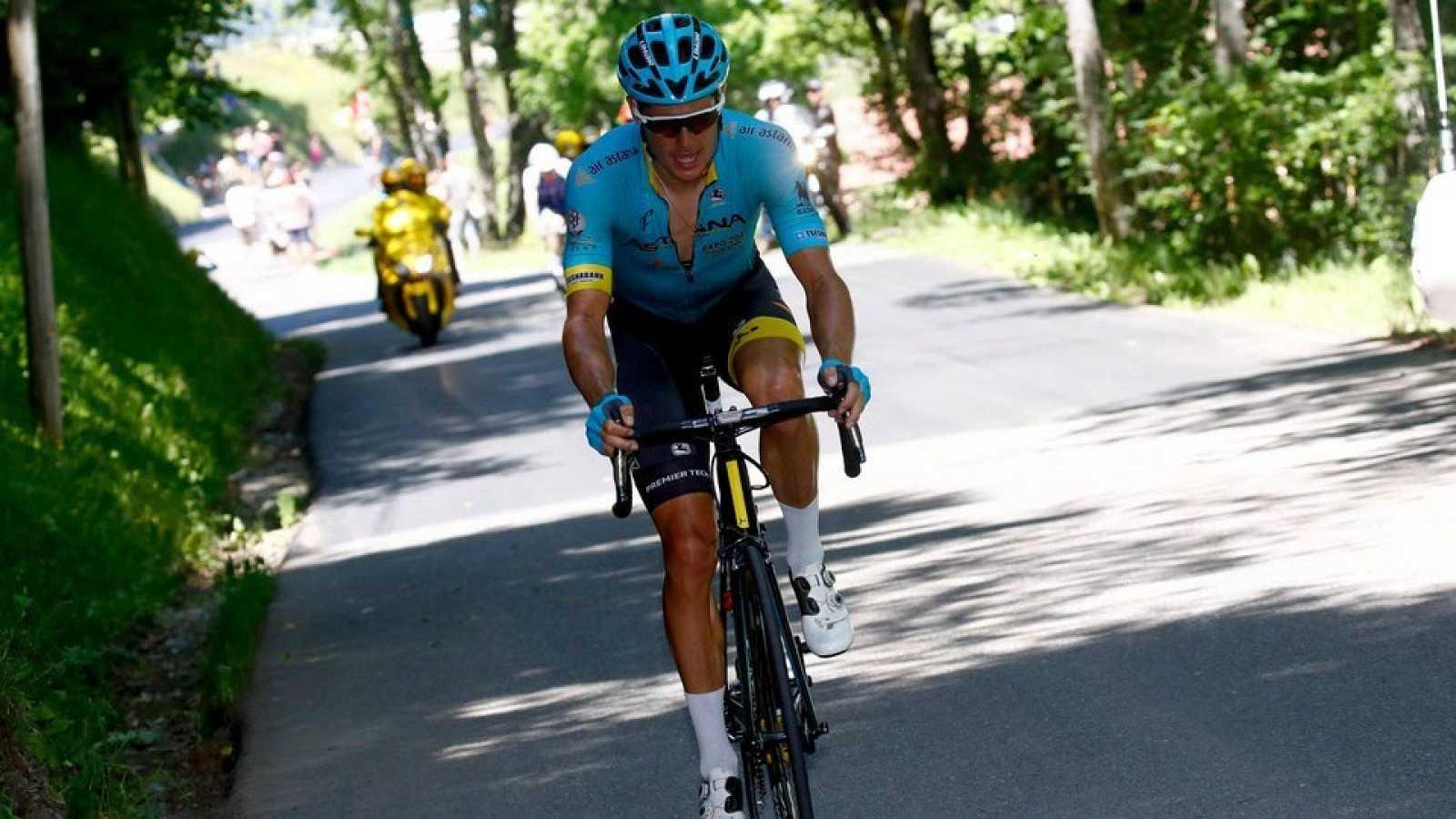 Imagen de Jakob Fuglsang durante una carrera ciclista