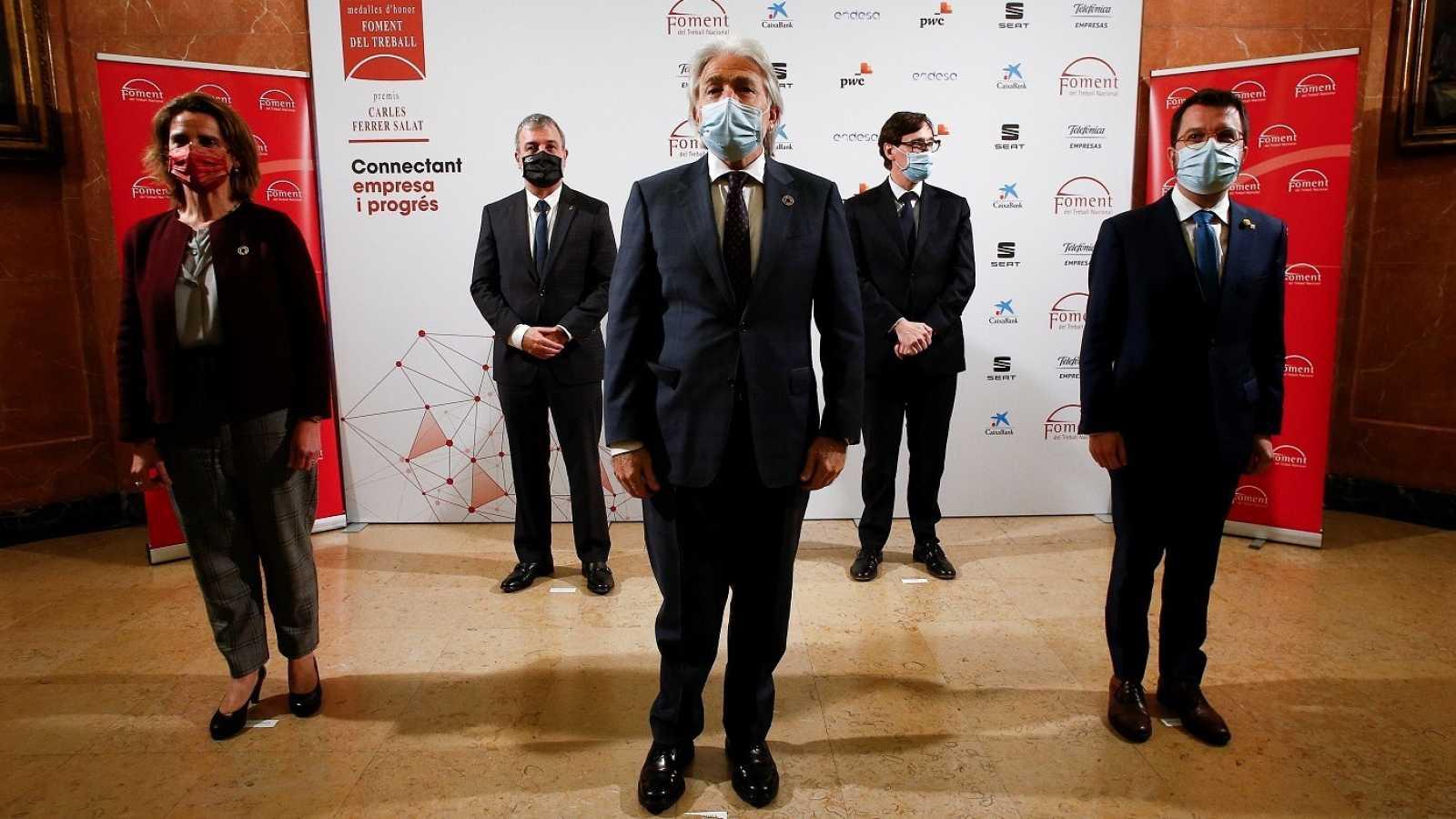 Entrega dels premis Carles Ferrer Salat de Foment del Treball durant la pandèmia