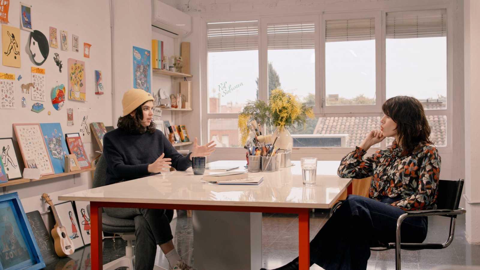 Flora Saura i Cristina Daura, aquesta setmana a 'Helvètica'