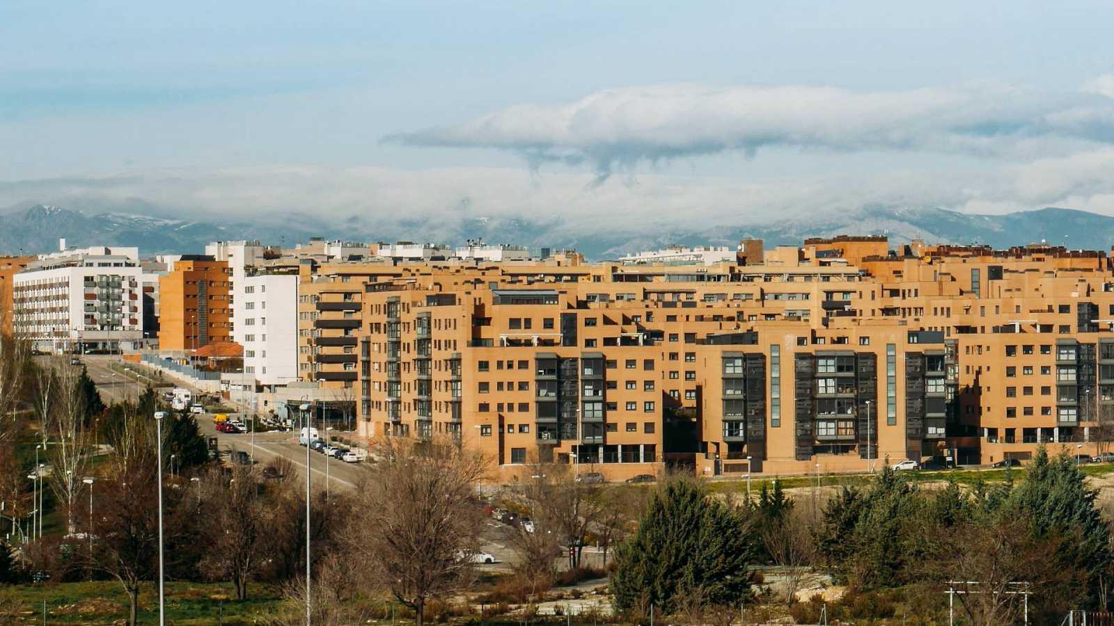 Vista de un barrio residencial en Madrid