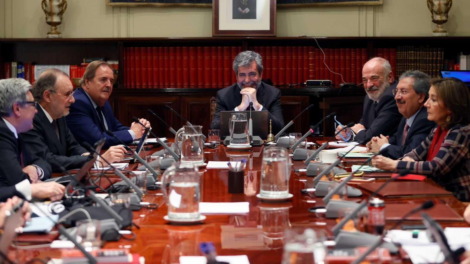 Imagen de archivo de un pleno del CGPJ, presidido por Carlos Lesmes