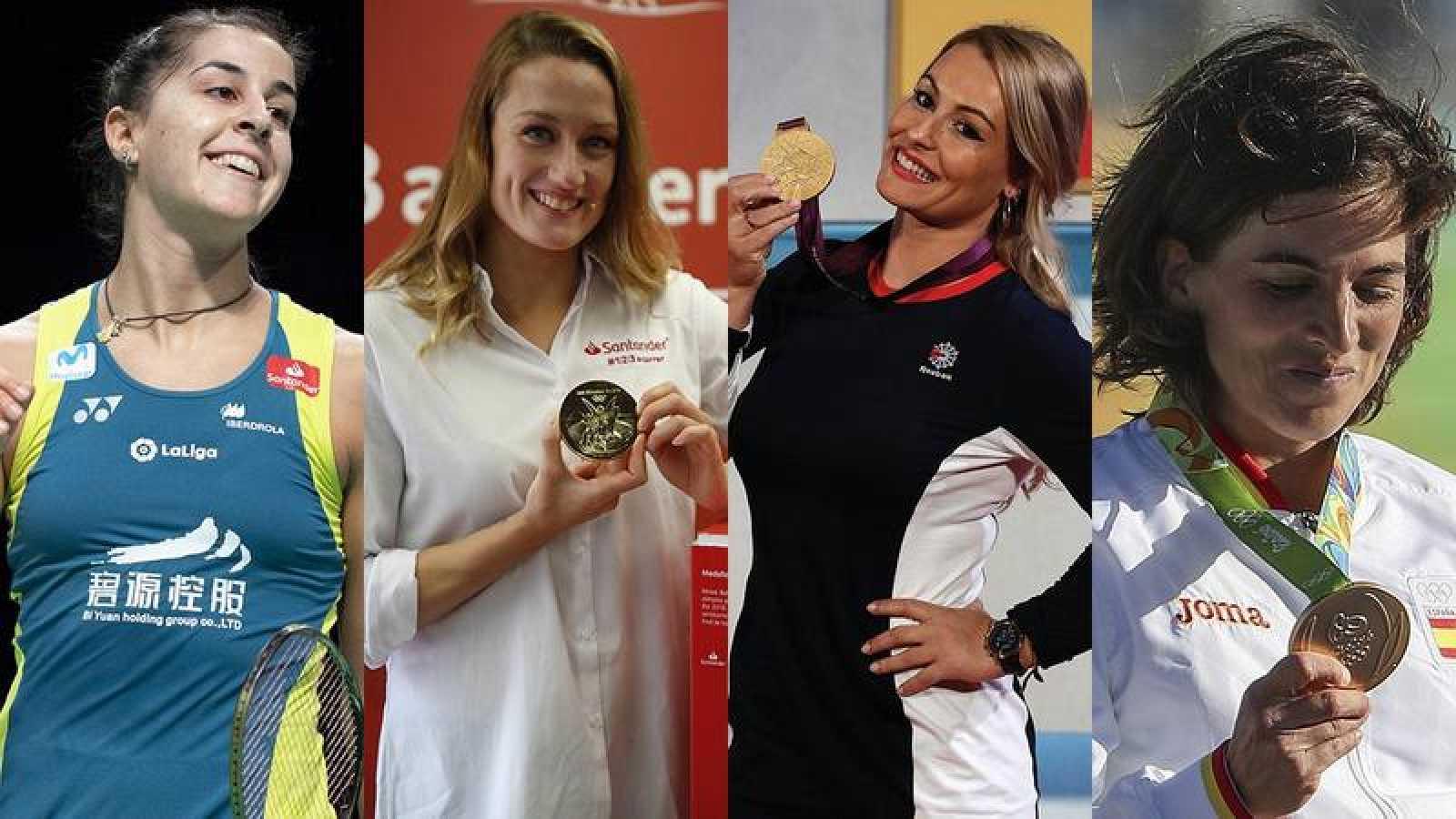 Carolina Marín, Mireia Belmonte, Lydia Valentín y Maialen Chourraut, campeonas olímpicas en sus disciplinas.