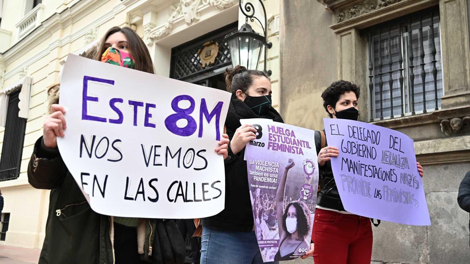 """8M - La Fiscalía pide suspender las manifestaciones por """"riesgo"""" para la  salud"""