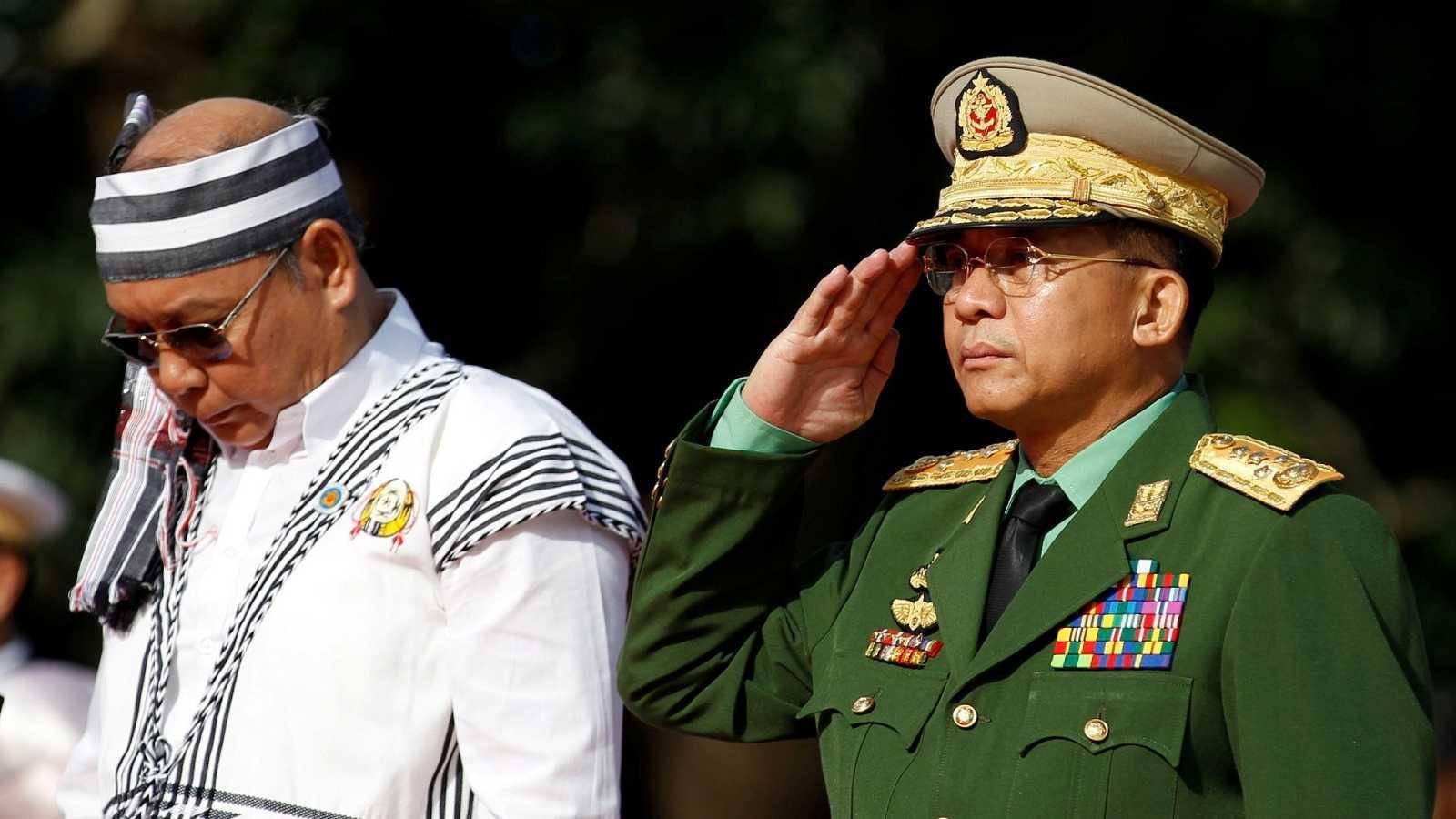 El jefe de las Fuerzas Armadas de Birmania, el general Min Aung Hlaing