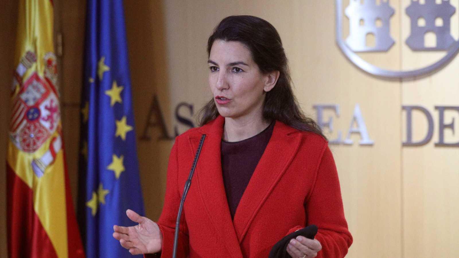 La candidata de Vox al 4M, Rocío Monasterio, en una imagen de archivo