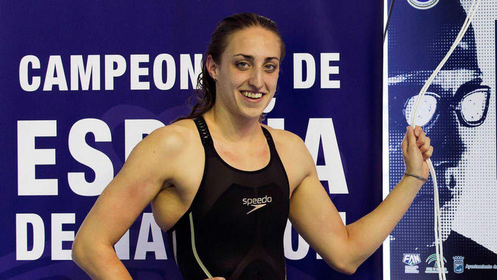 Lidón Muñoz, tras batir un récord de España en 2018