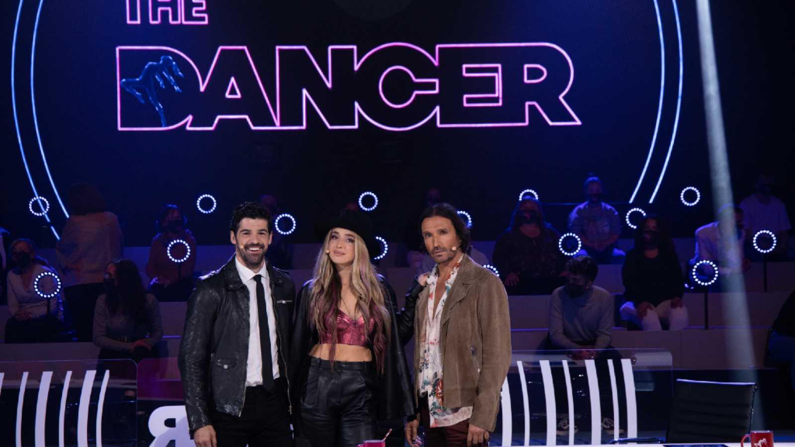 Miguel Ángel Muñoz, Lola Indigoy  Rafa Méndez en las primeras audiciones de 'The Dancer'