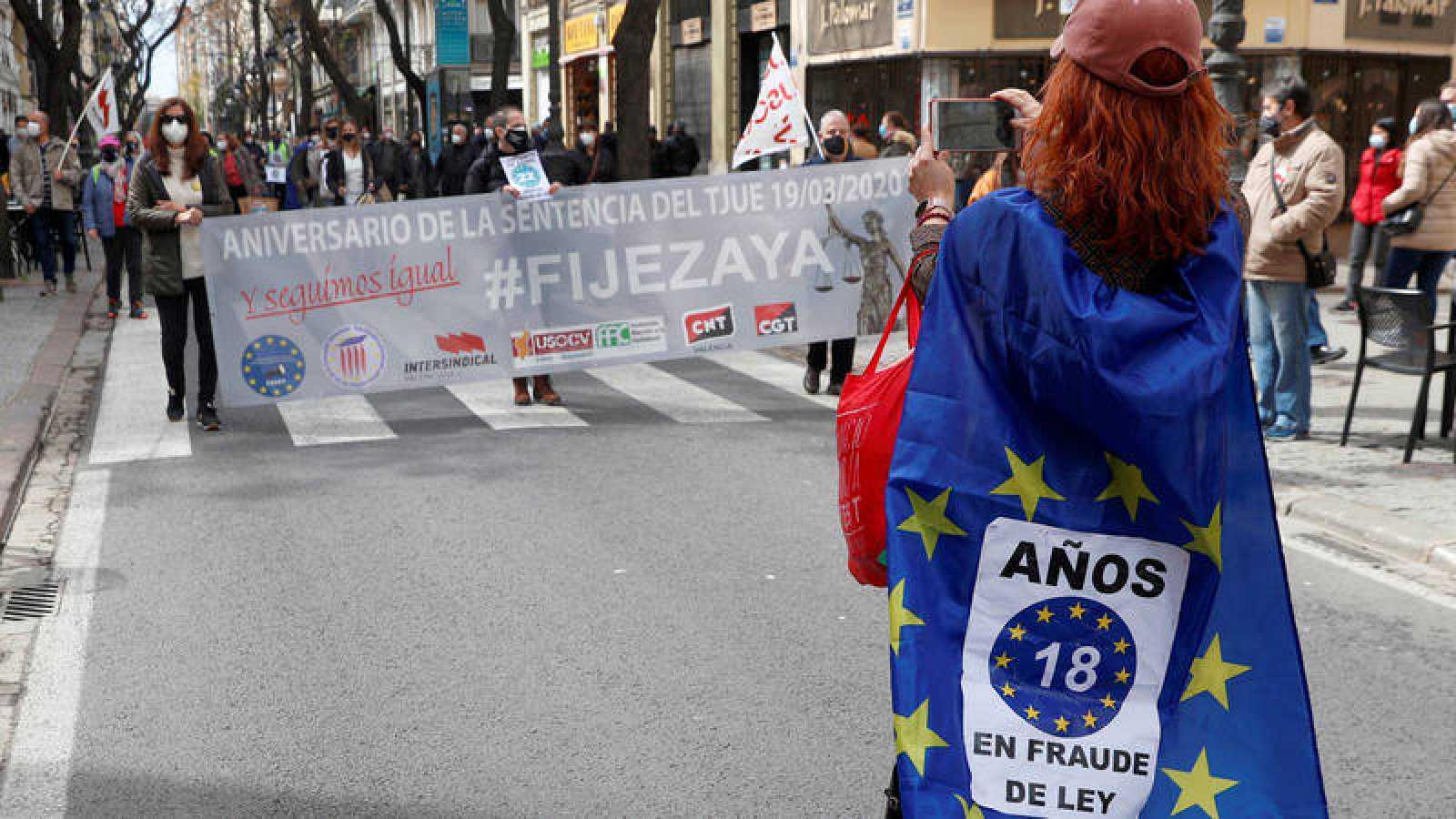 Los interinos reclaman la aplicación de la sentencia del TJUE de marzo de 2020, sobre el abuso de contratación temporal