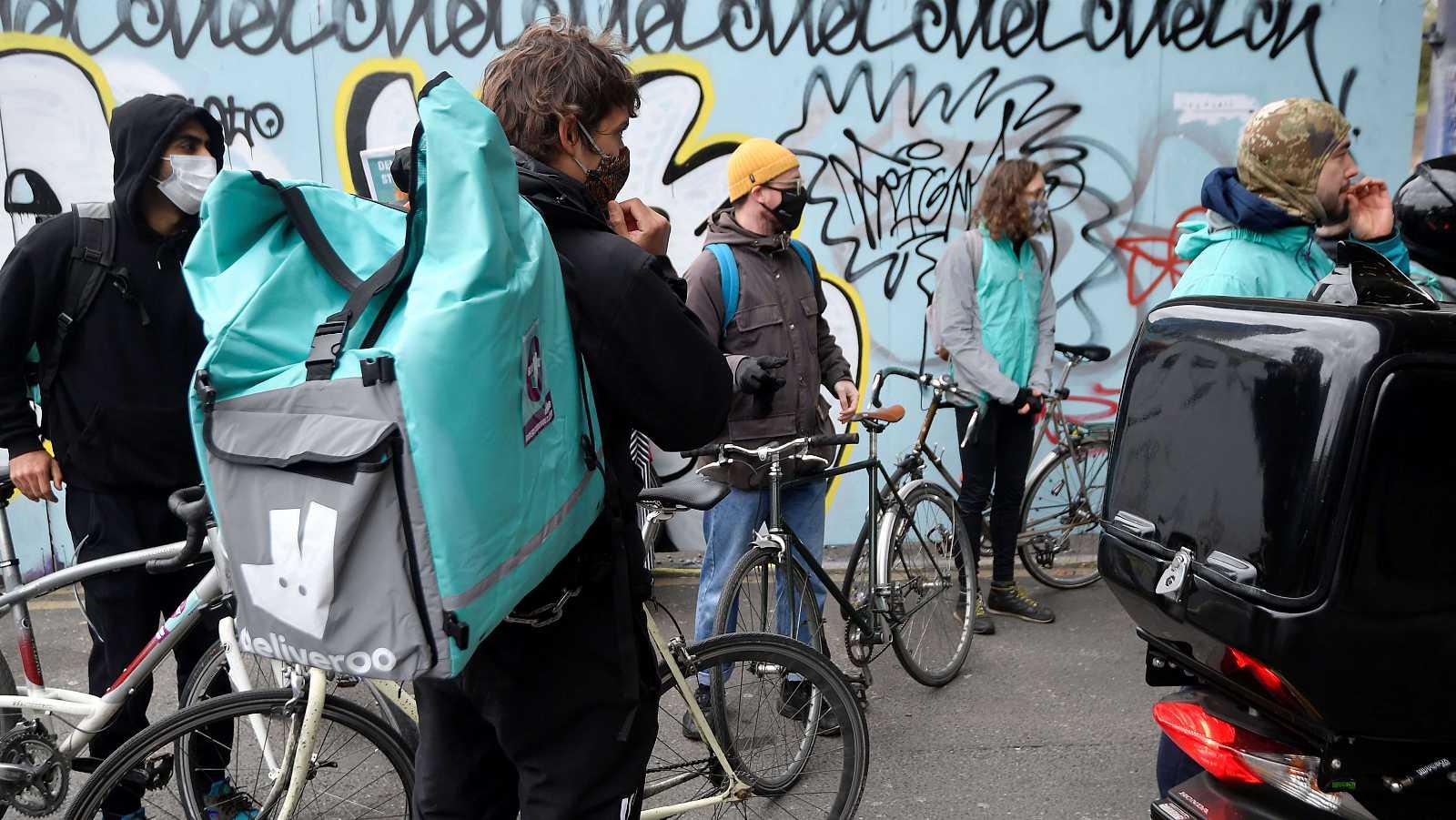 Concentración de riders en Londres