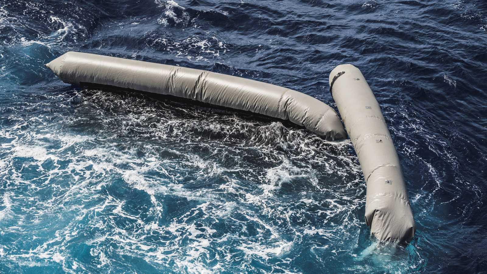 Imagen del naufragio de la embarcación