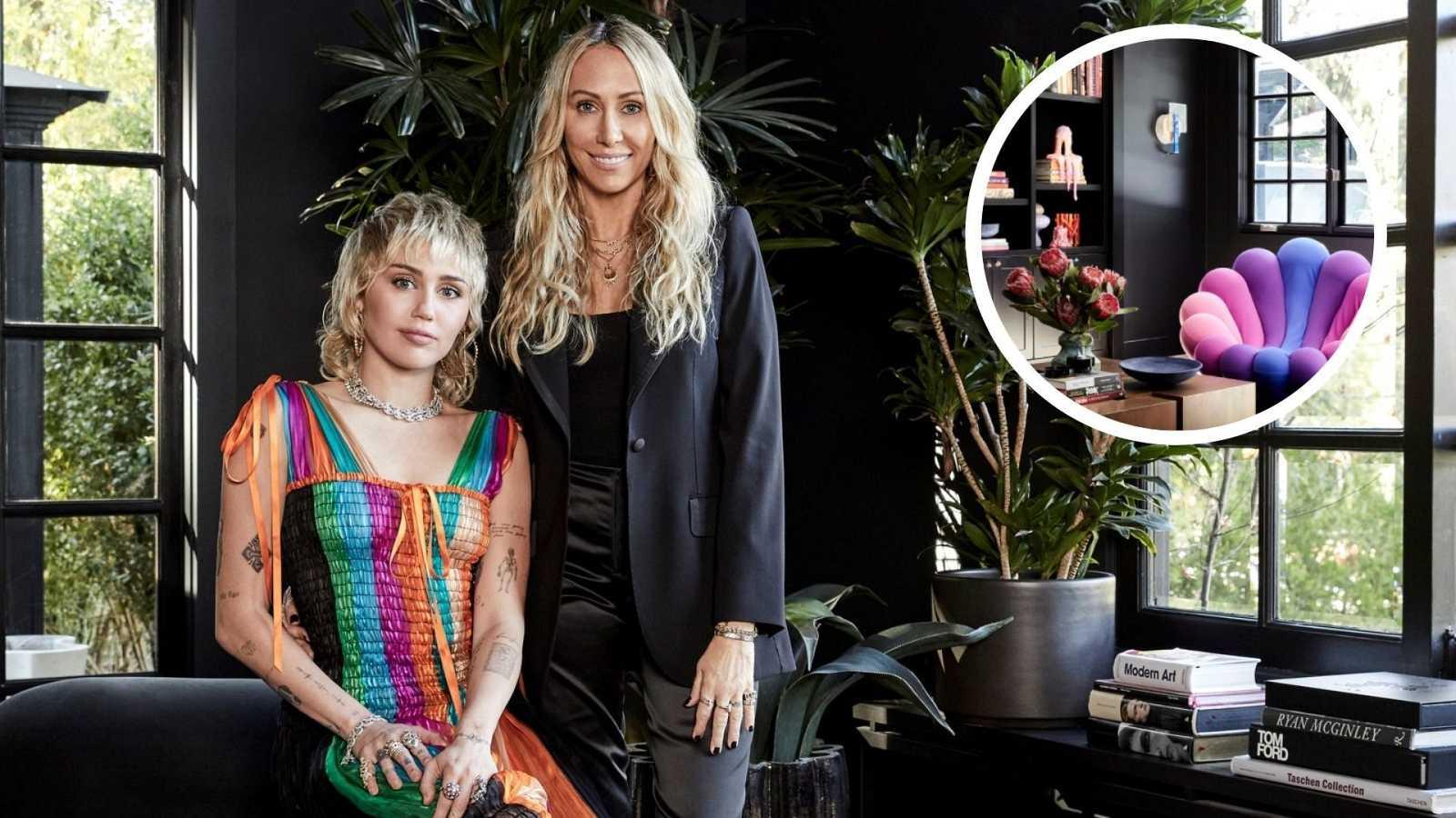 Así es la impresionante mansión de Miley Cyrus decorada por su madre
