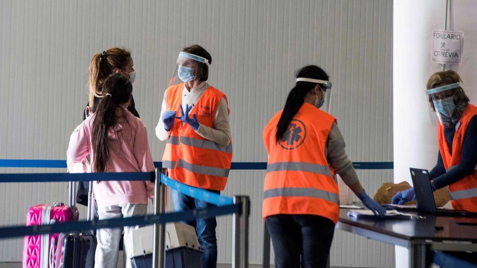 Imagen de un control de movilidad debido a la pandemia de coronavirus