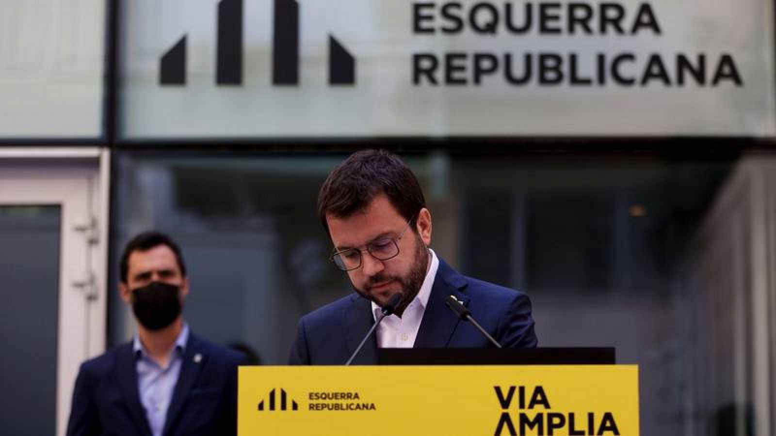 El candidato de ERC a la presidencia de la Generalitat, Pere Aragonès