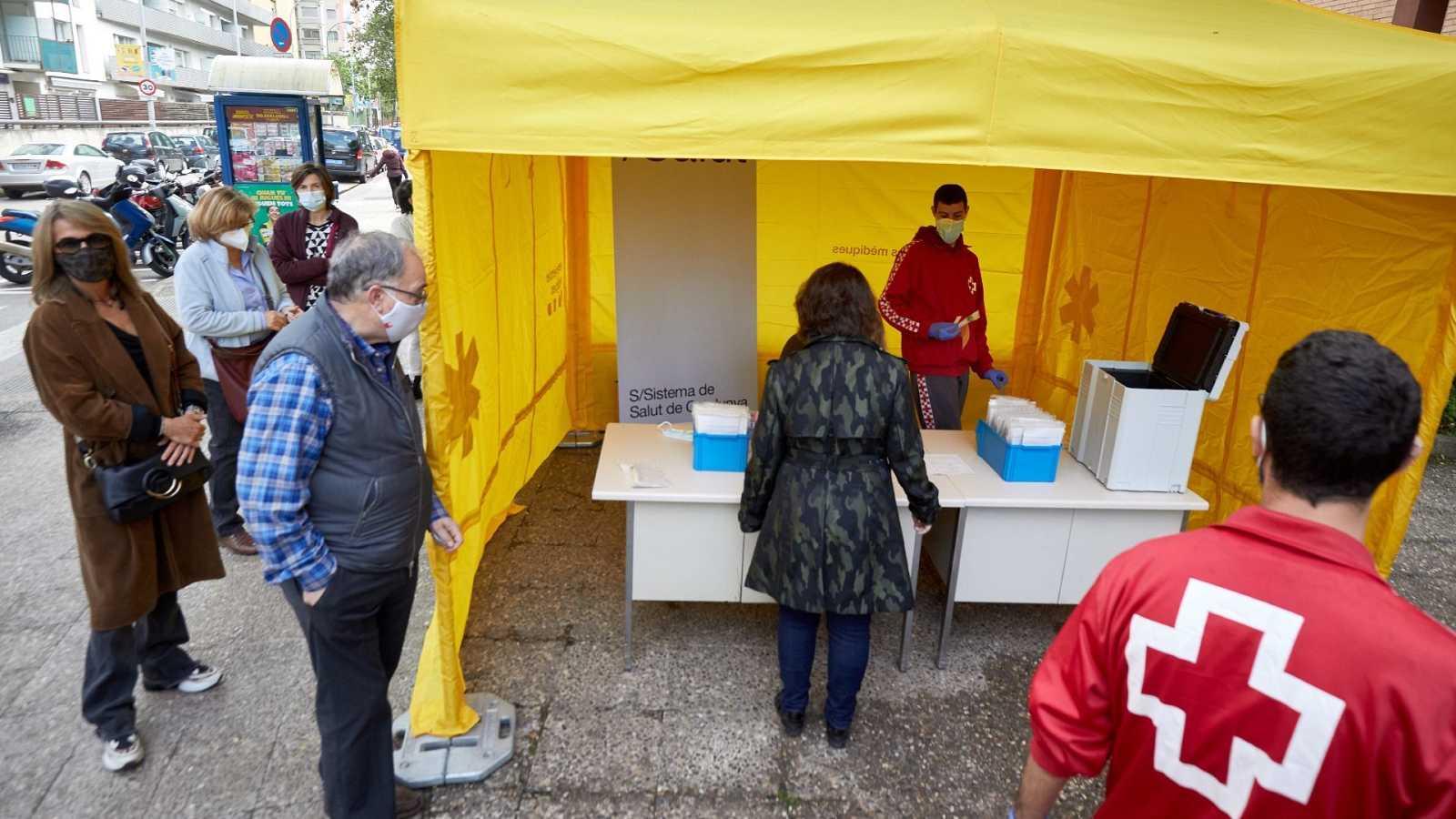 Cribado poblacional con PCR para detectar casos de coronavirus en Girona Cataluña