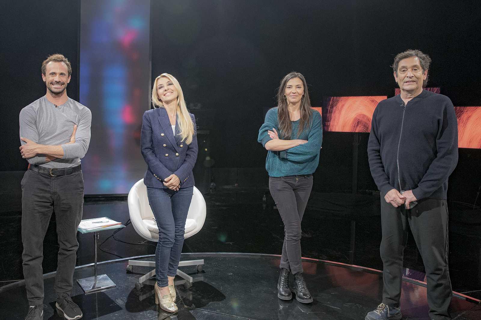 Agustí Villaronga, Nuria Prims y Oriol Pla, con Cayetana Guillén Cuervo