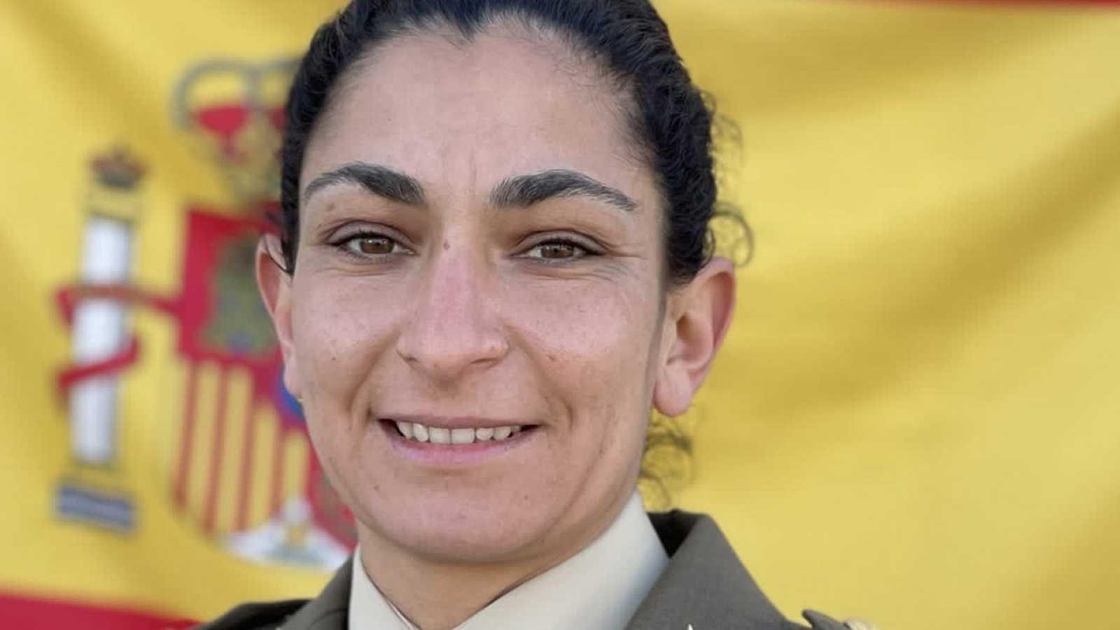 La sargento de artillería Debora Grau Serra, en una imagen difundida por el Ejército de Tierra.