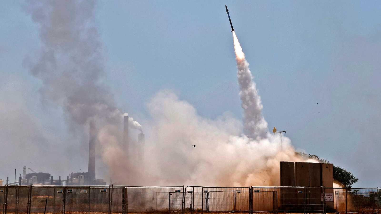 El sistema de defensa antiaéreo de Israel Cúpula de Hierro