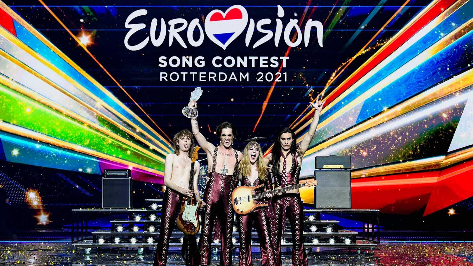 Italia con Måneskin gana Eurovisión 2021.