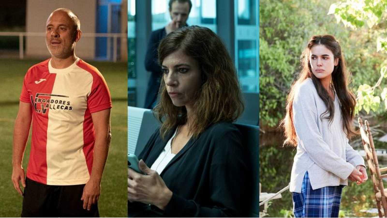 Javier Gutiérrez en 'Estoy vivo'; Maribel Verdú en 'Ana Tramel'; y Adriana Ugarte en 'Parot'