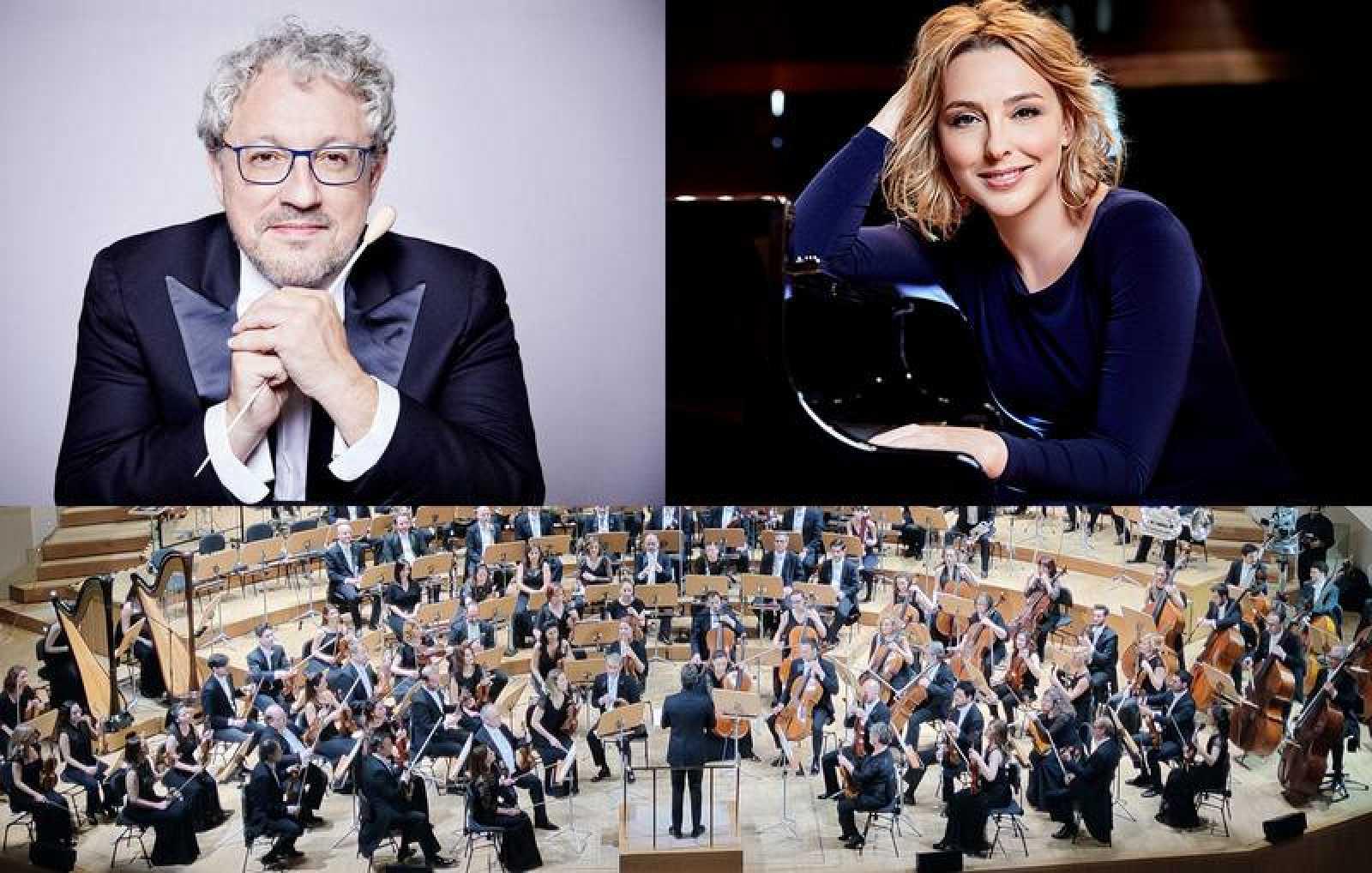 Miguel Romea y Judith Jáuregui con la Orquesta RTVE