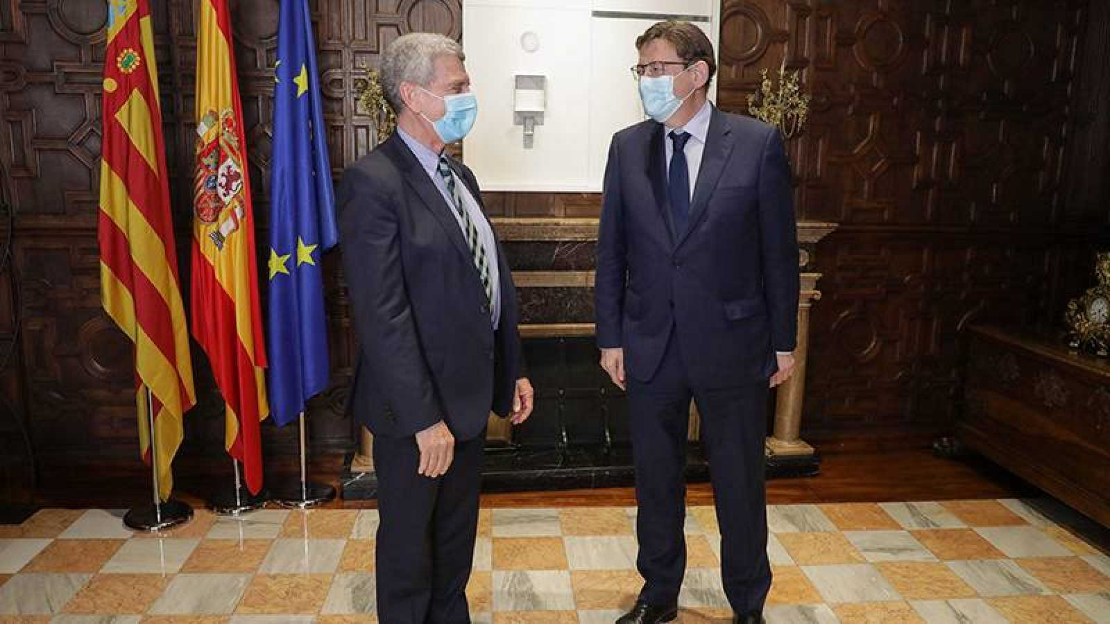 José Manuel Pérez Tornero y Ximo Puig