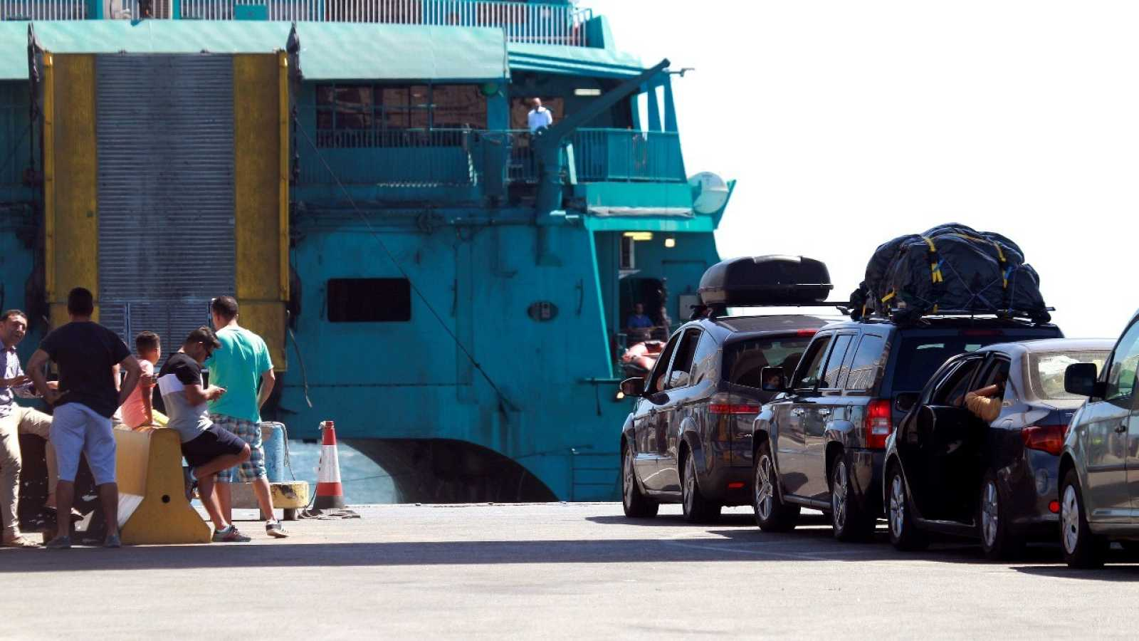 Imagen de la última Operación Paso del Estrecho, la de 2019, en el puerto de Algeciras