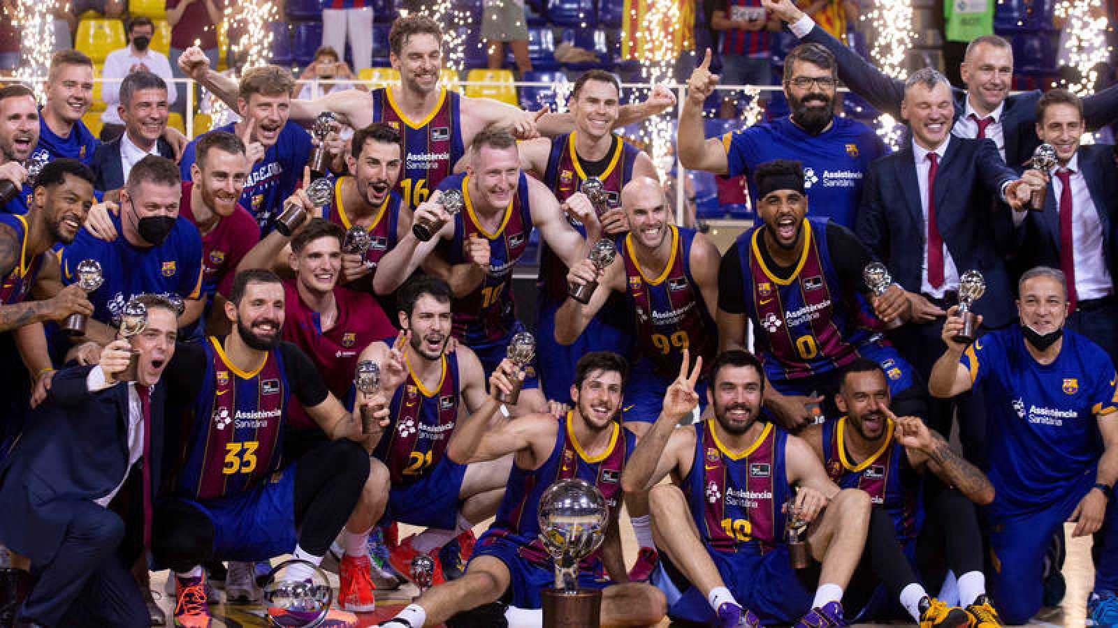 El Barça gana al Madrid y conquista la Liga ACB