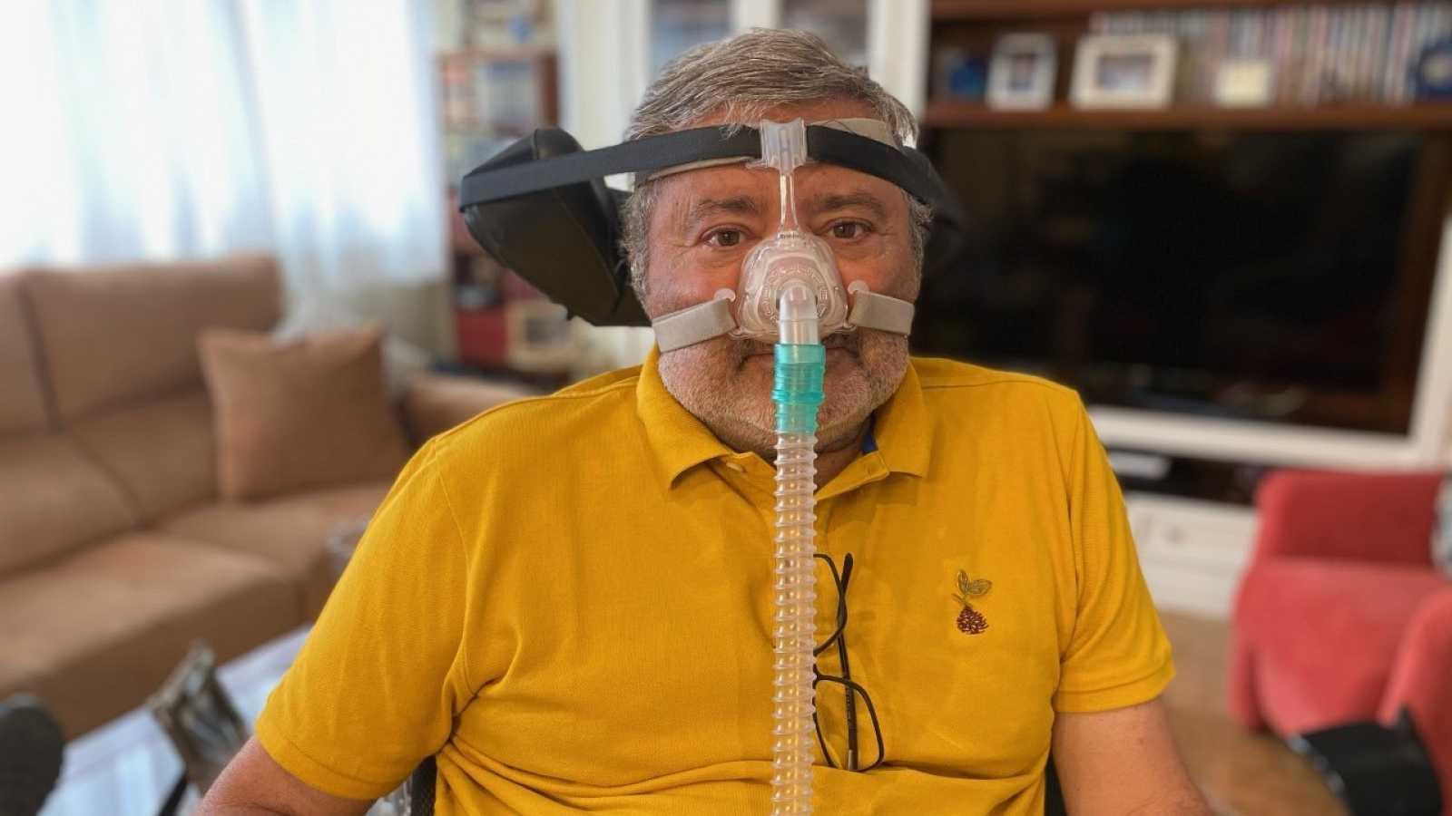 Pepe Tarriza, de 66 años, diagnosticado con ELA hace ocho