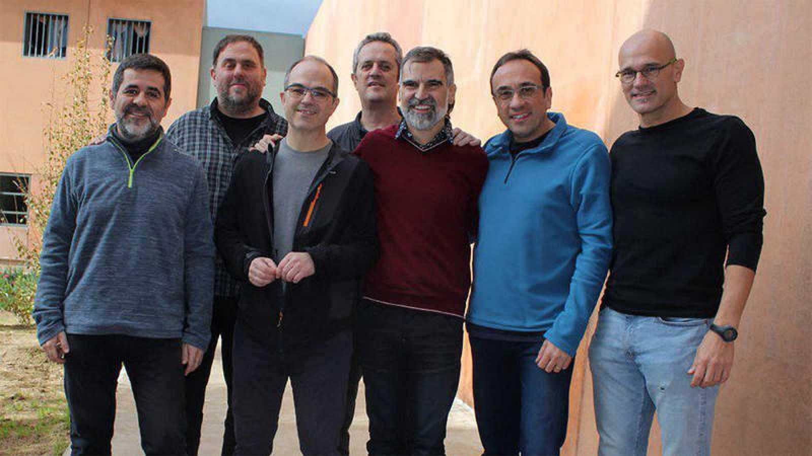 Imagen de archivo en la que aparecenlos presos del 'procés' que se encuentran en la cárcel de Lledoners.