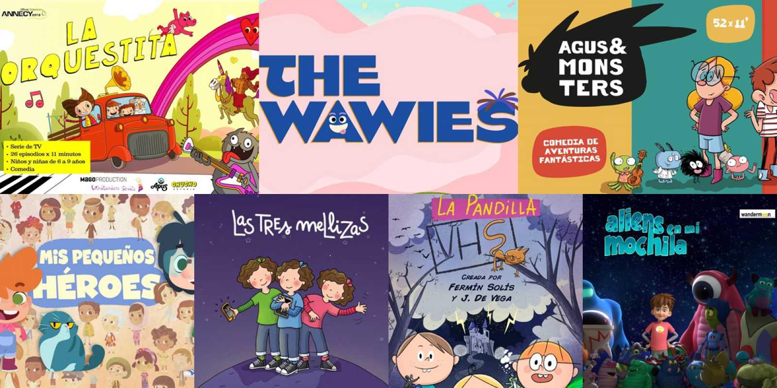 Las siete series de animación seleccionadas por RTVE