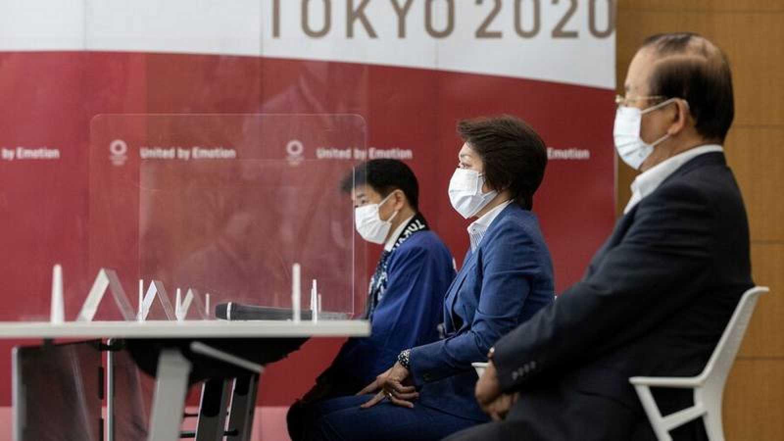 Rueda de prensa del Comité Organizador de los Juegos Olímpicos Tokyo 2020.