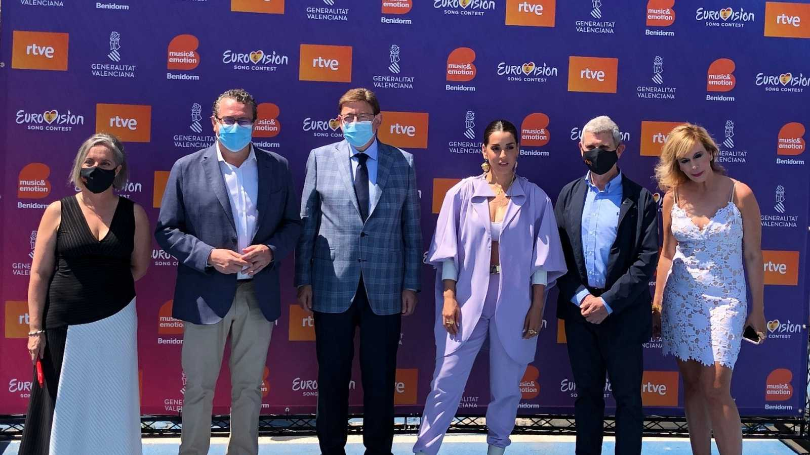 RTVE announcement about Eurovision 2022, from Benidorm