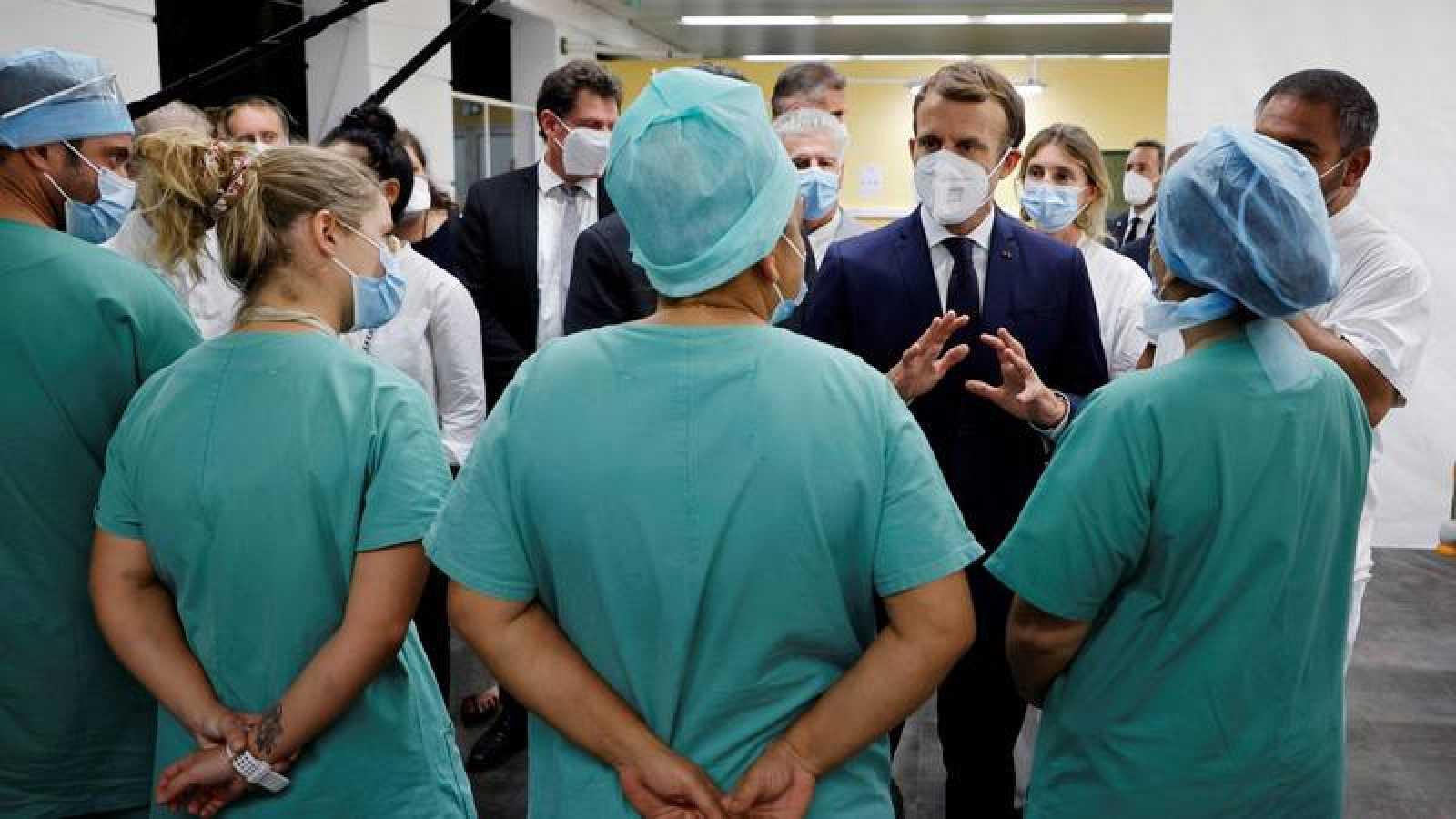 El presidente francés, Emmanuel Macron,durante una visita oficial a la Polinesia Francesa