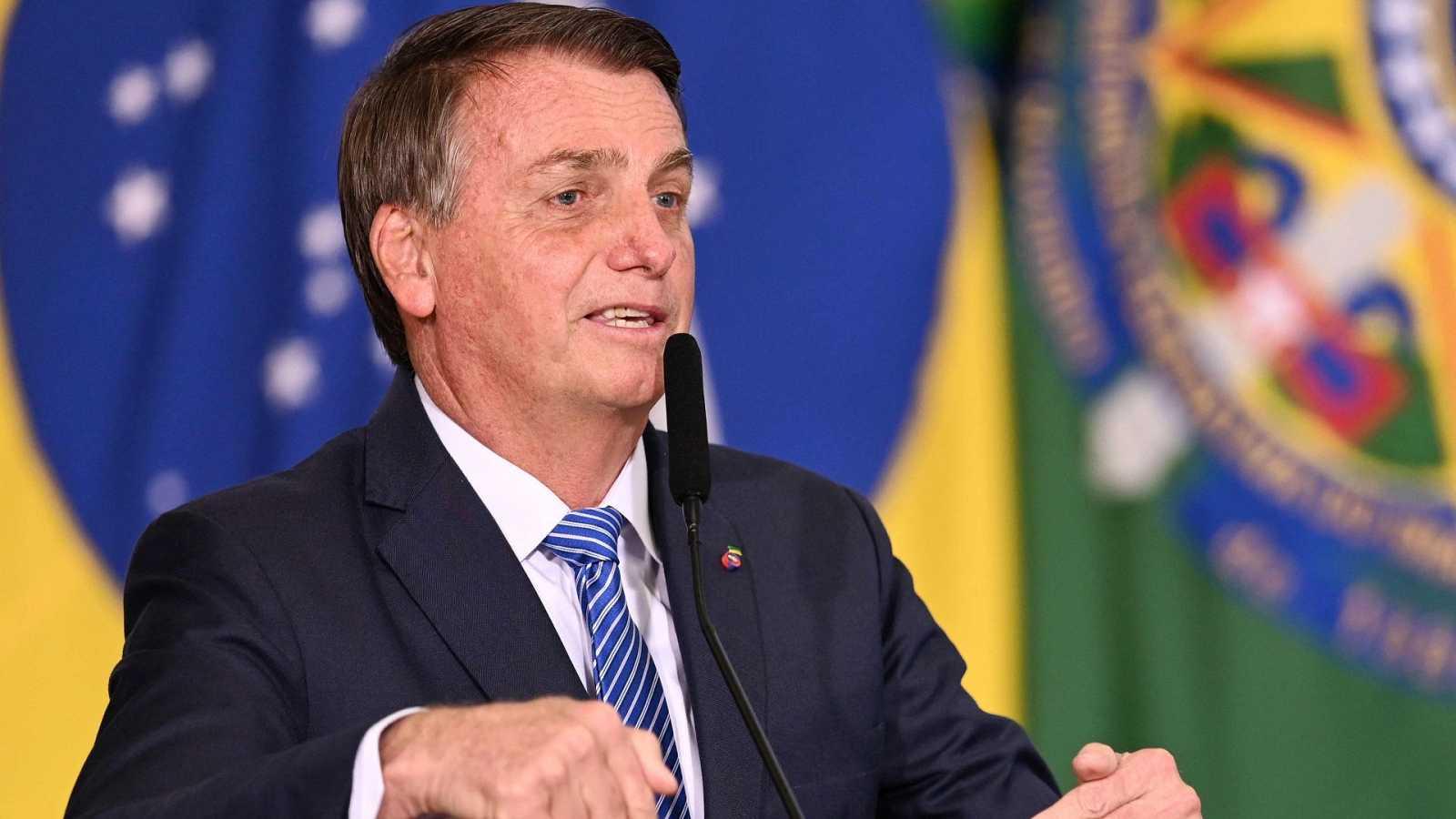 El presidente brasileño Jair Bolsonaro durante un discurso