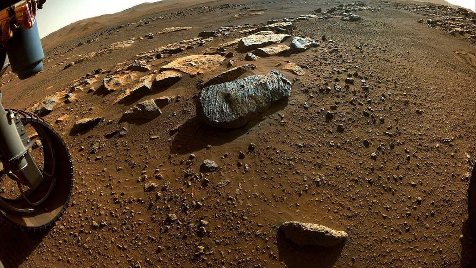 La primera roca objetivo de Perseverance apunta a pasado habitable