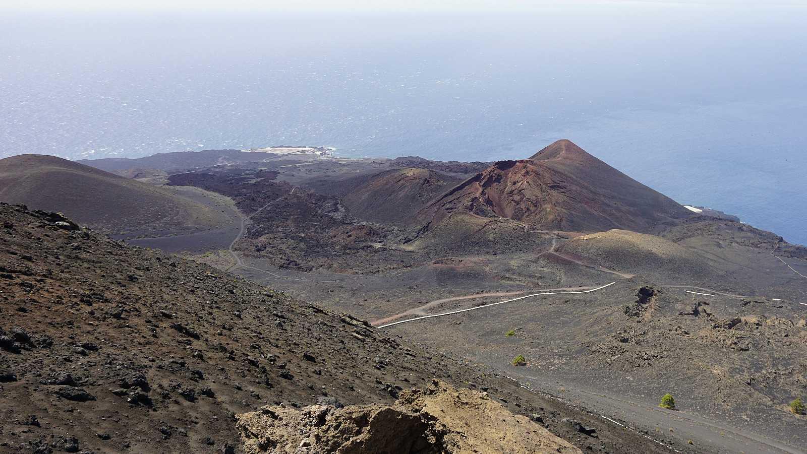 Imagen del volcán Teneguía, cuya erupción en 1971 ha sido la última registrada en La Palma.