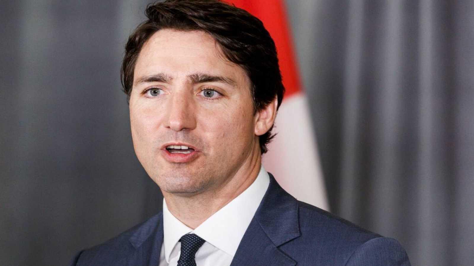 Fotografía de archivo fechada el 17 de mayo de 2018 donde aparece el primer ministro de Canadá, Justin Trudeau, durante una conferencia de prensa en Nueva York (Estados Unidos).