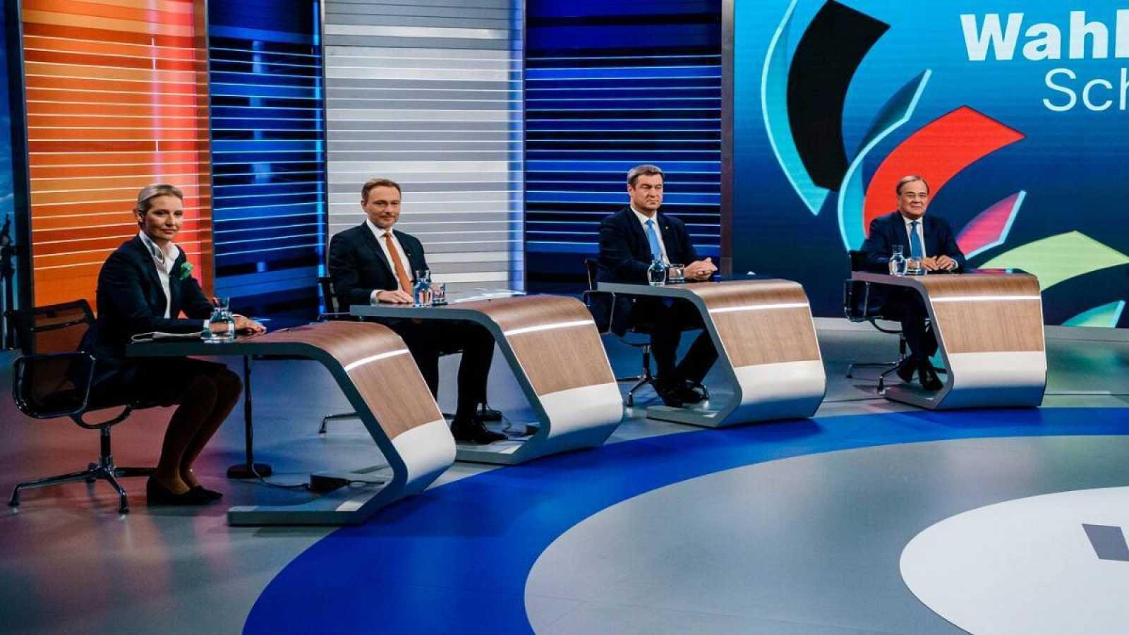 Los candidatos a los comicios alemanes debaten y los sondeos dan la ventaja  de Scholz